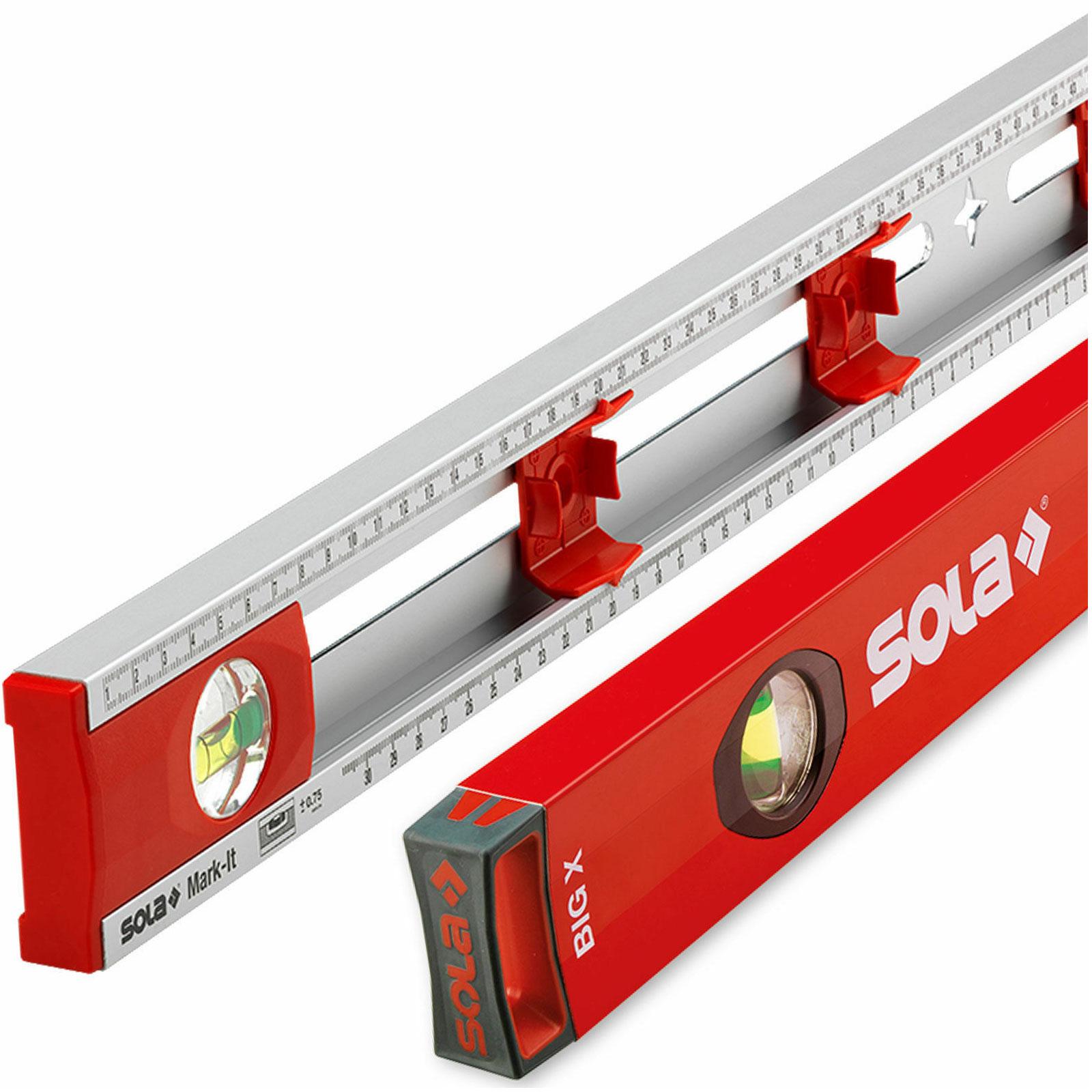 Stabila Wasserwaagen Set 200+150+100+40cm Profi Aluminium Wasserwaagen Alu